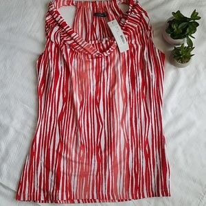 NWT Tart Wesley Abstract Lines Cowl Neck Tank